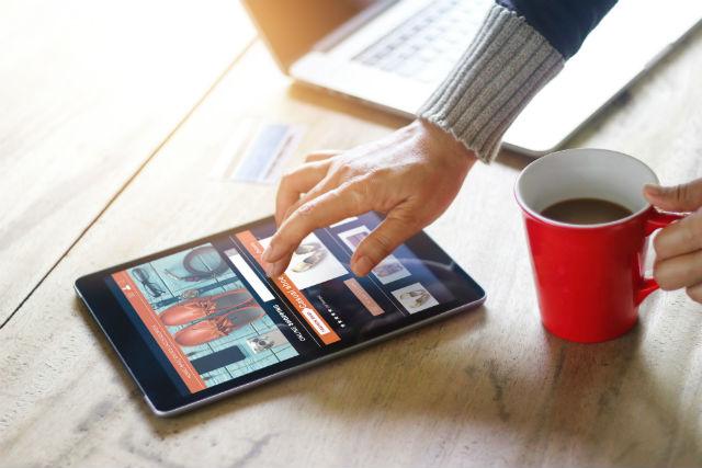 iPad Spreizgeste