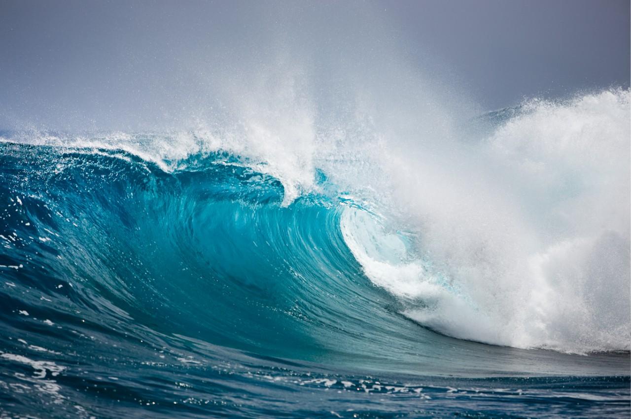 Welle bricht