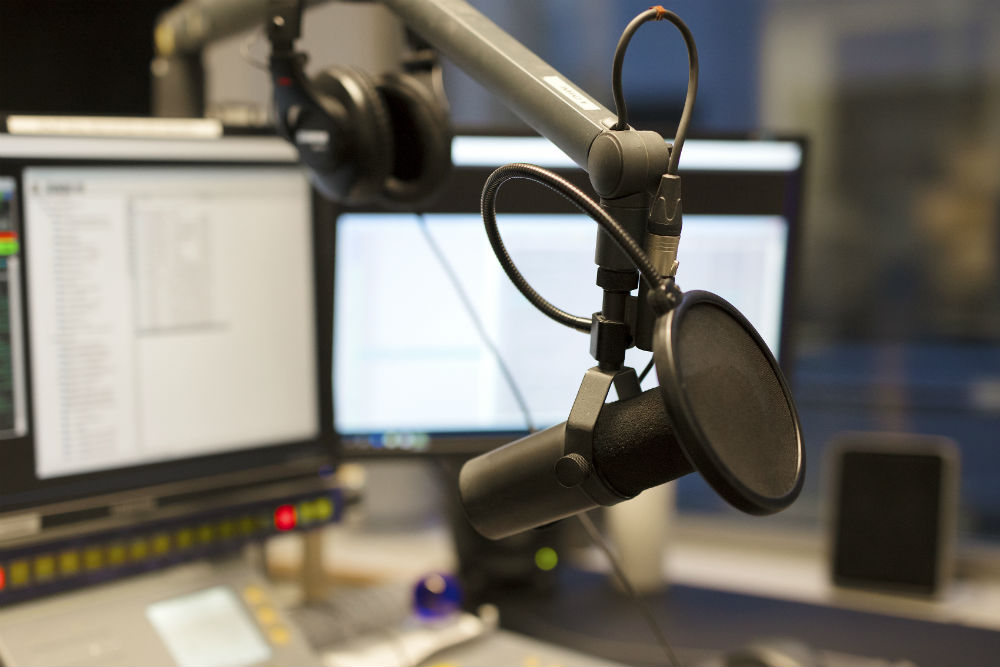 Podcast Aufnahmestation